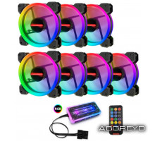 COOLMOON RGB FAN 120  (7 шт)